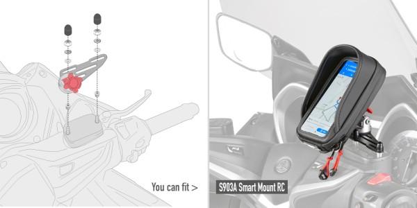 Montagekit für die Halterung S903A für Bremsflüssigkeitsbehälter am Lenker Original Givi