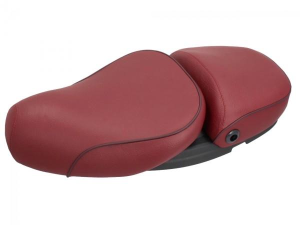 Vespa 2-Sitzer Echtleder Sitzbank rot für LX 50-150ccm Touring, ET2/ET4 /LX/LXV/S 50-150ccm-
