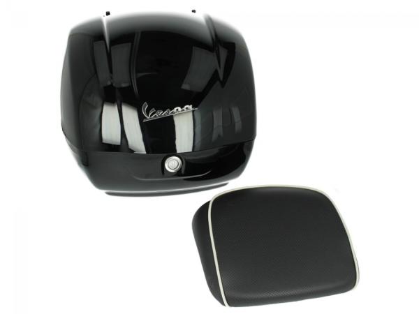Original Topcase für Vespa GTS - 90 Schwarz glänzend 094 36L My 19