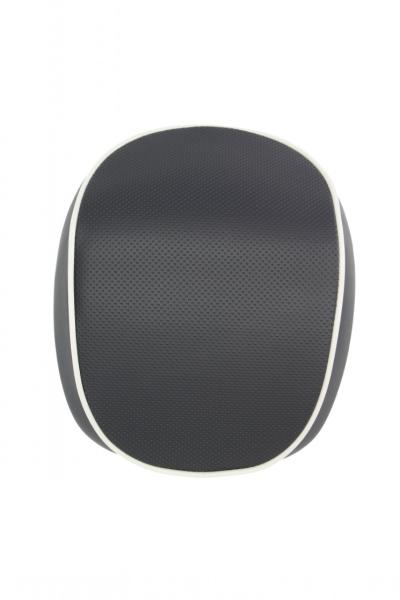 Rückenlehne Vespa Primavera / Sprint, schwarz mit weißem Keder