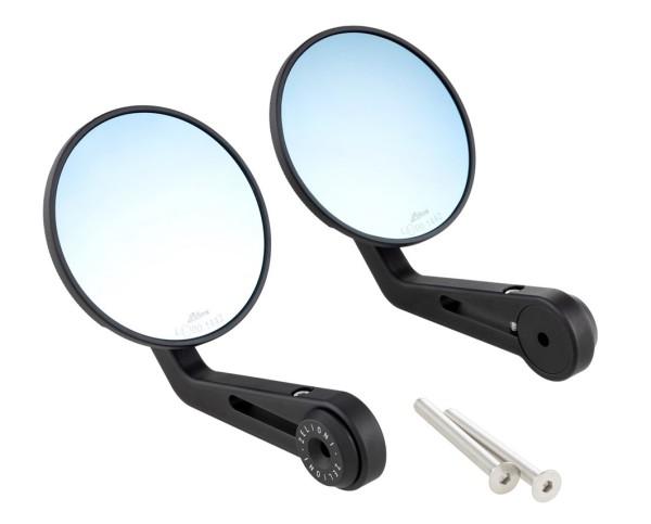 Lenkerendenspiegel ZELIONI für Vespa, rechts und links, schwarz matt