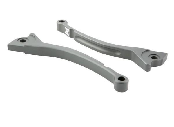 Sporthebel Set Bremse ZELIONI für Vespa, rechts und links, grau matt