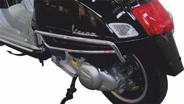 Sturzbügel Seitenhaube hinten für Vespa GTS/GTS Super 125-300ccm, chrom