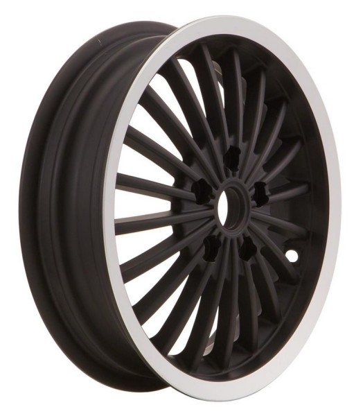 Felge vorne/hinten für Vespa GTS/GTS Super/GTV/GT 125-300ccm, schwarz mit poliertem Rand